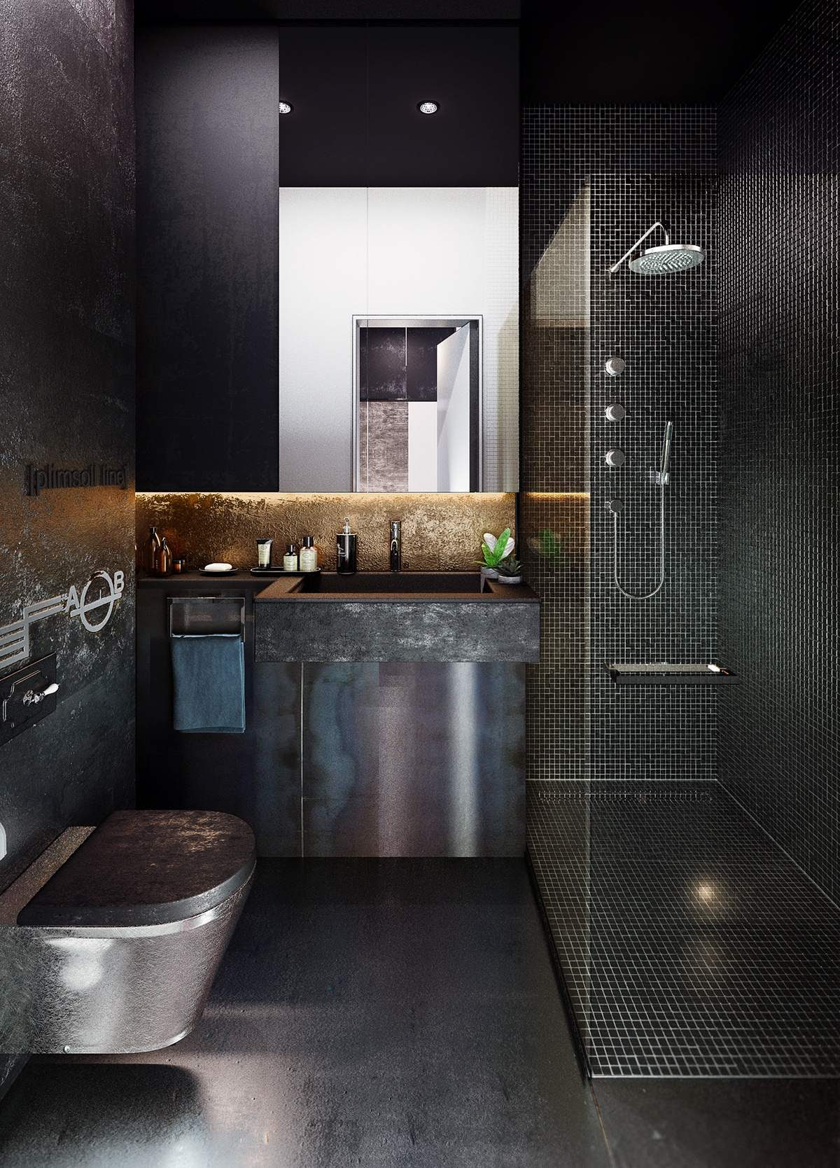 22 Industrial Style Bathrooms Plus Ideas & Accessories You Can