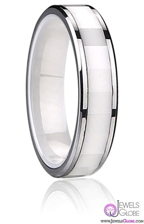 Best 23 White Ceramic Wedding Bands for Men   Pouted.com