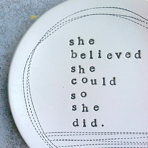 She Believed She Could So She DId - Plate Dish by mbartstudios