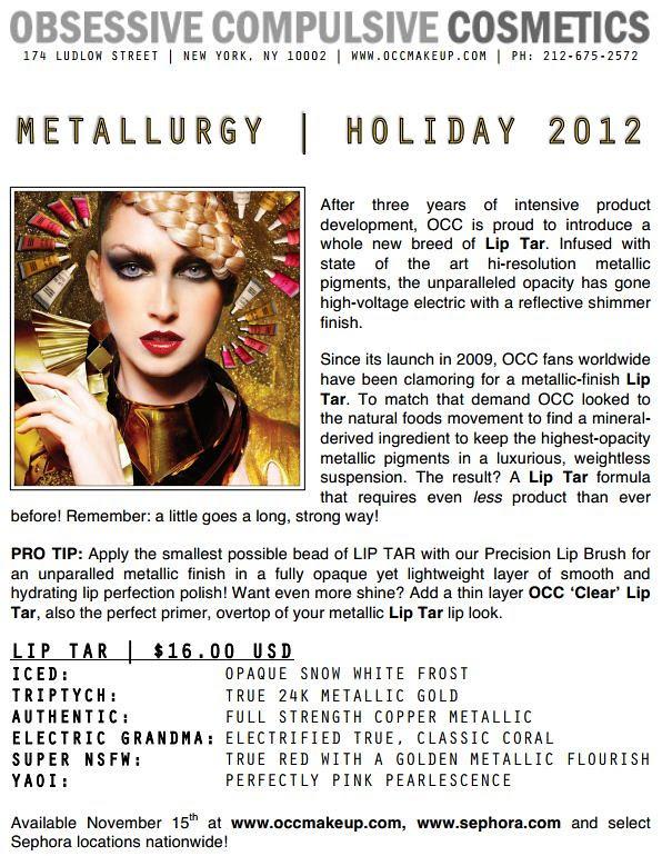 occ press release metallurgy