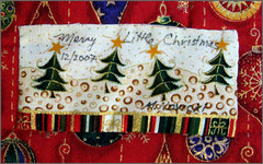 """""""Merry Little Christmas"""" label"""