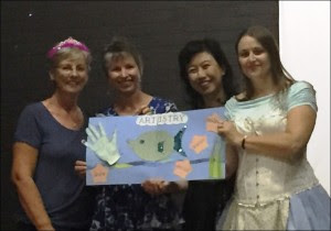 Andrea, Karin, Erica and Dale with their masterpiece