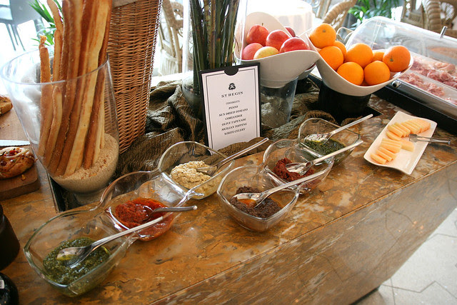 Lovely condiments to go with your breads - pesto, tomato, tapenade, etc
