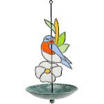 Stained Glass Bluebird Bird Feeder