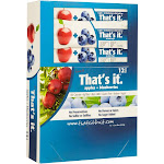 That's It Nutrition Fruit Bars, Apple & Blueberry - 12 pack, 1.2 oz each