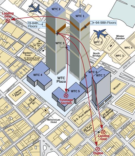 File:World Trade Center, NY - 2001-09-11 - Debris Impact Areas.svg