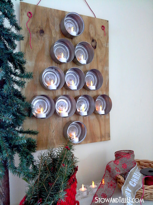 Lighted Tuna Can Christmas Tree | Stow&TellU