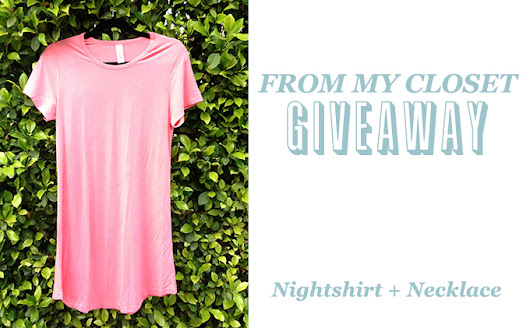 From My Closet Giveaway: Yala Nightshirt & Necklace | The Kind Life