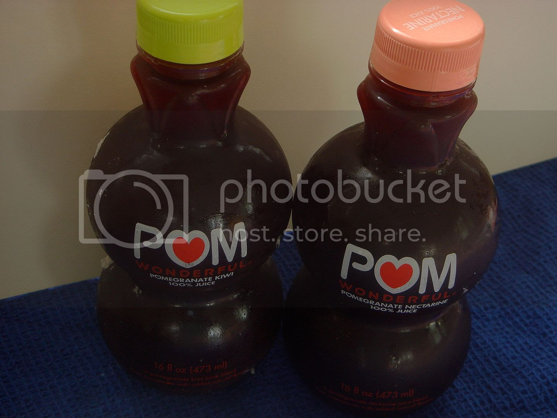 POM juice bottles