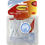 Command Hooks with Medium Strips Set, Clear