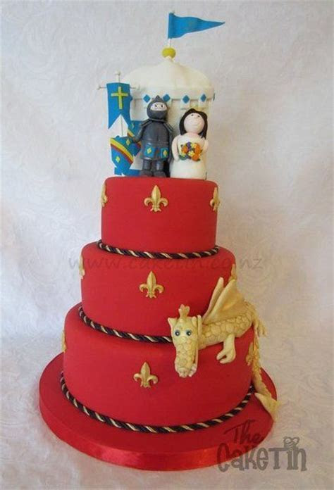 Medieval Wedding cake..just the red and gold..no