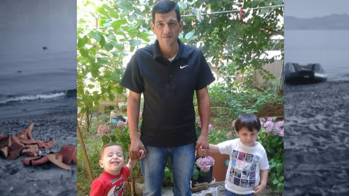 Abdullah with his sons Aylan and Galip who perished as he sought a better life for them.