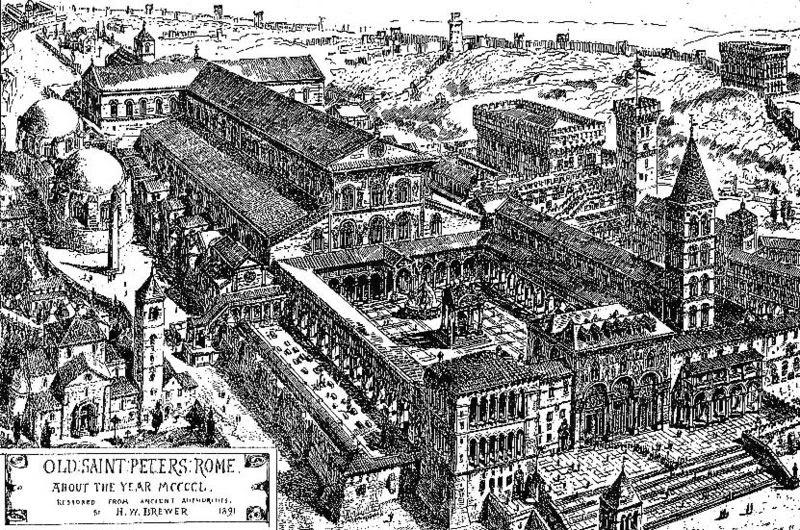 Fil: Basilica di San Pietro 1450.jpg