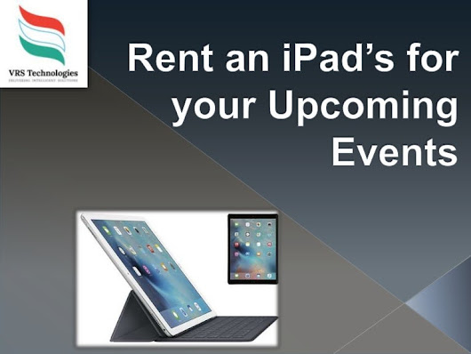 Rent an iPad for your Upcoming Events
