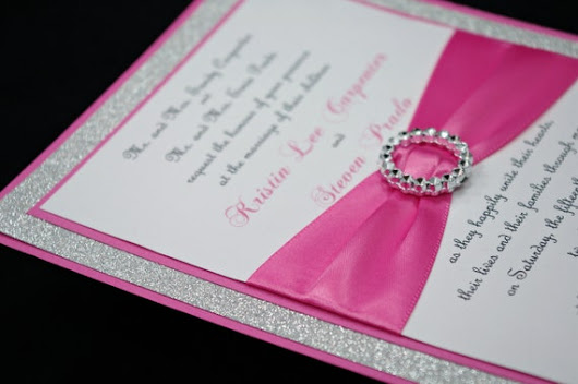 Pink and White with a touch of Bling Wedding Theme