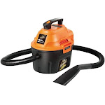 Armor All Aa255 Utility Wet and Dry Vacuum, 2 Hp, 2.5 Gallon Capacity