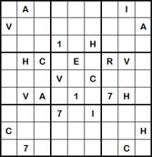 Mystery Godoku Puzzle for April 02, 2012