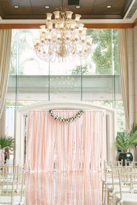 10 Weddings with Breathtaking Blush Decorations   Hong