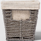"Twisted Paper Rope Small Tapered Basket Gray 6""X6"" - Threshold"