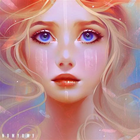 colors numyumy digital  digital art girl fantasy