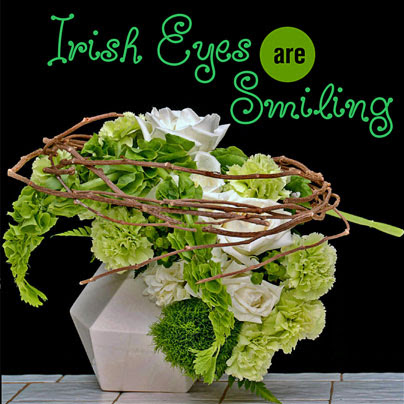 Saint Patrick's Inspired Floral Arrangements