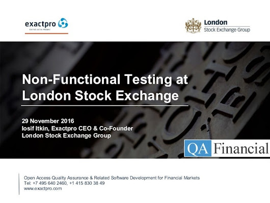 Non-Functional Testing at  London Stock Exchange