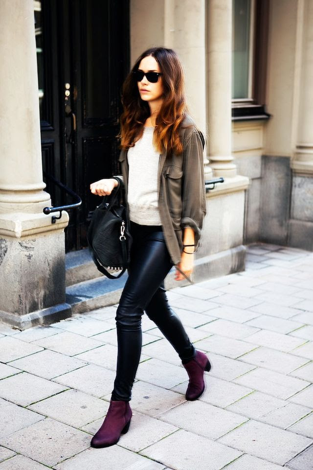5 looks that put burgundy boots on our musthave list