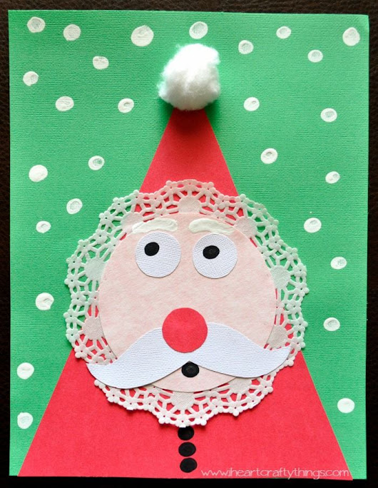 Adorable Kids Santa Craft for Christmas | I Heart Crafty Things