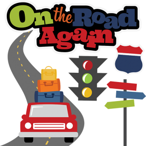 On The Road Again SVG scrapbook file vacation svg files road trip cut files for scrapbooking