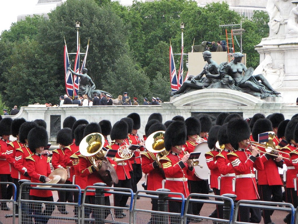 The Queen's Guards on parade