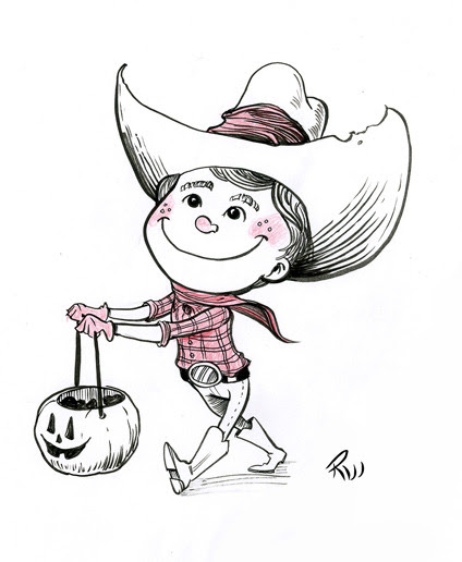 Inktober - Little Cowboy