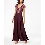 Calvin Klein Womens Lace Formal Evening Dress