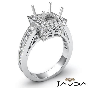 1CT Diamond Engagement Ring 14K White Gold Princess Cut
