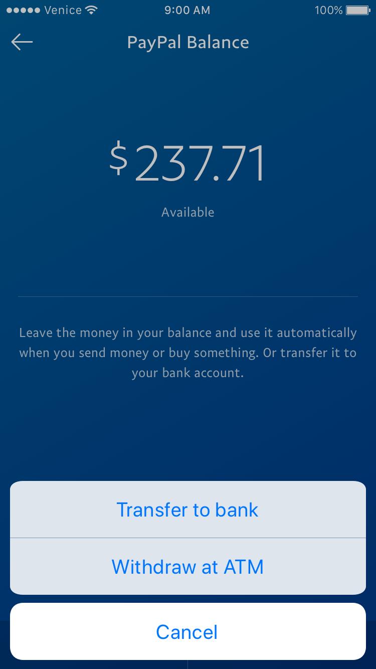 Balance Screenshot Fake Paypal Account