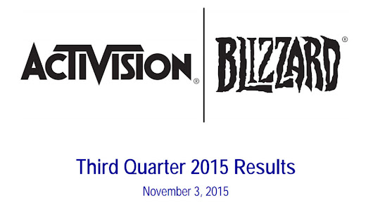 Activision Blizzard Third Quarter Results 2015