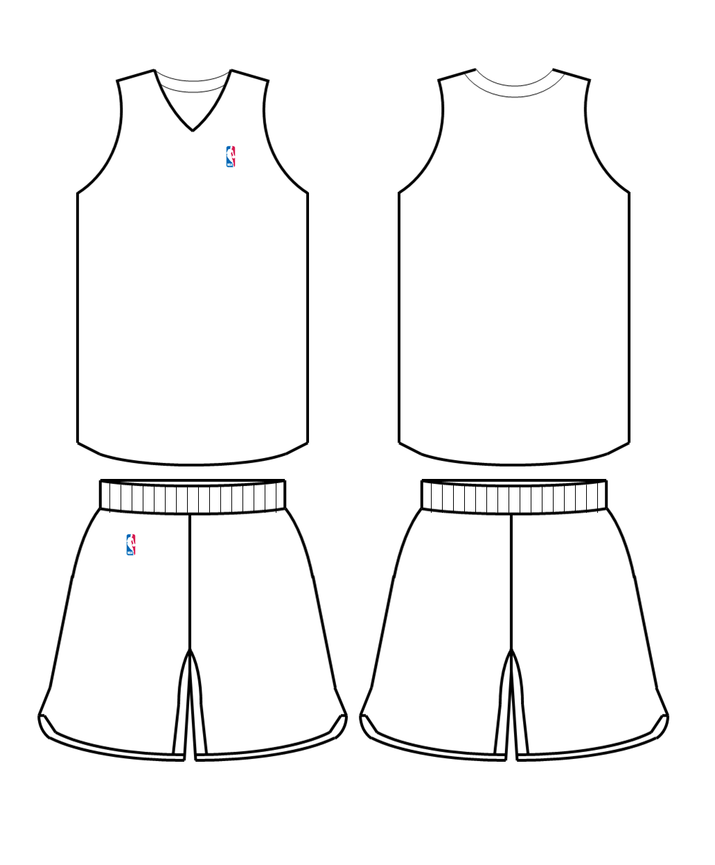 Blank Football Jersey Coloring Page - AZ Coloring Pages