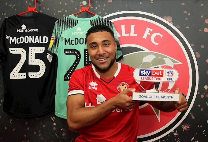 Wes Wins: McDonald Collects January's Goal of the Month Award