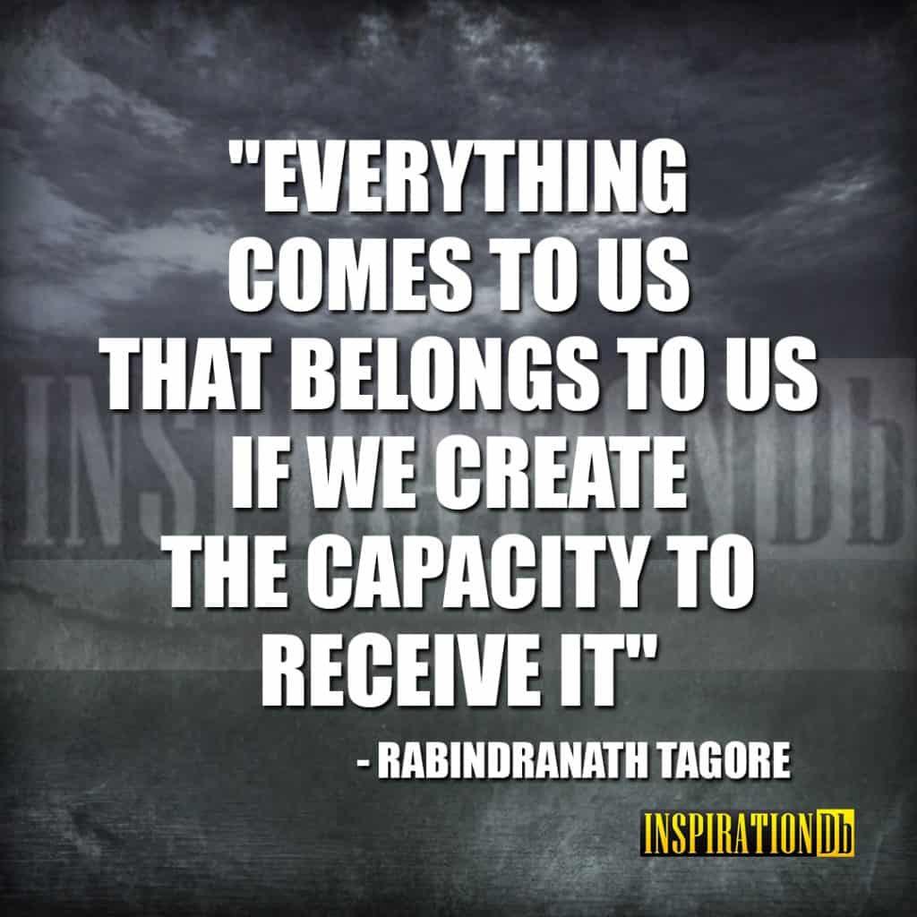 Rabindranath Tagore Quote Poster Inspirationdb