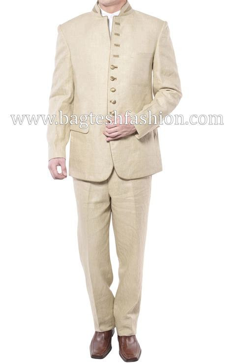 Ultimate Ivory Linen Wedding Suit,Ivory