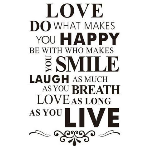 removable hitam putih kata cinta senyum english kata