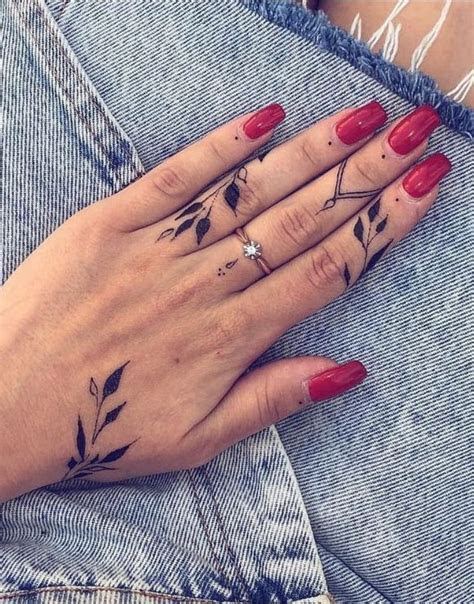meaningful tiny finger tattoo ideas woman eager