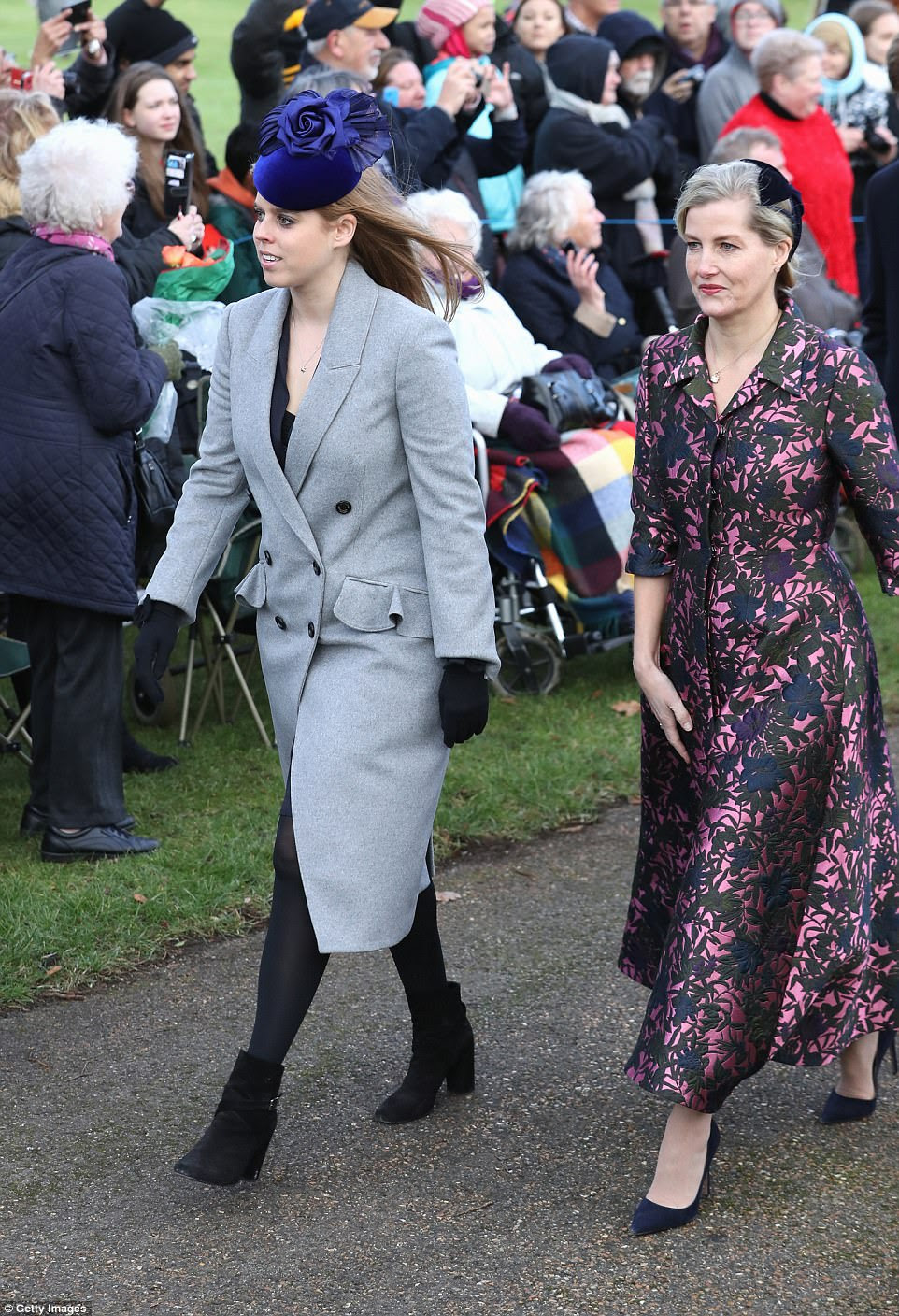 Princess Beatrice and Sophie, Countess of Wessex, were also at the special Christmas Day service this morning