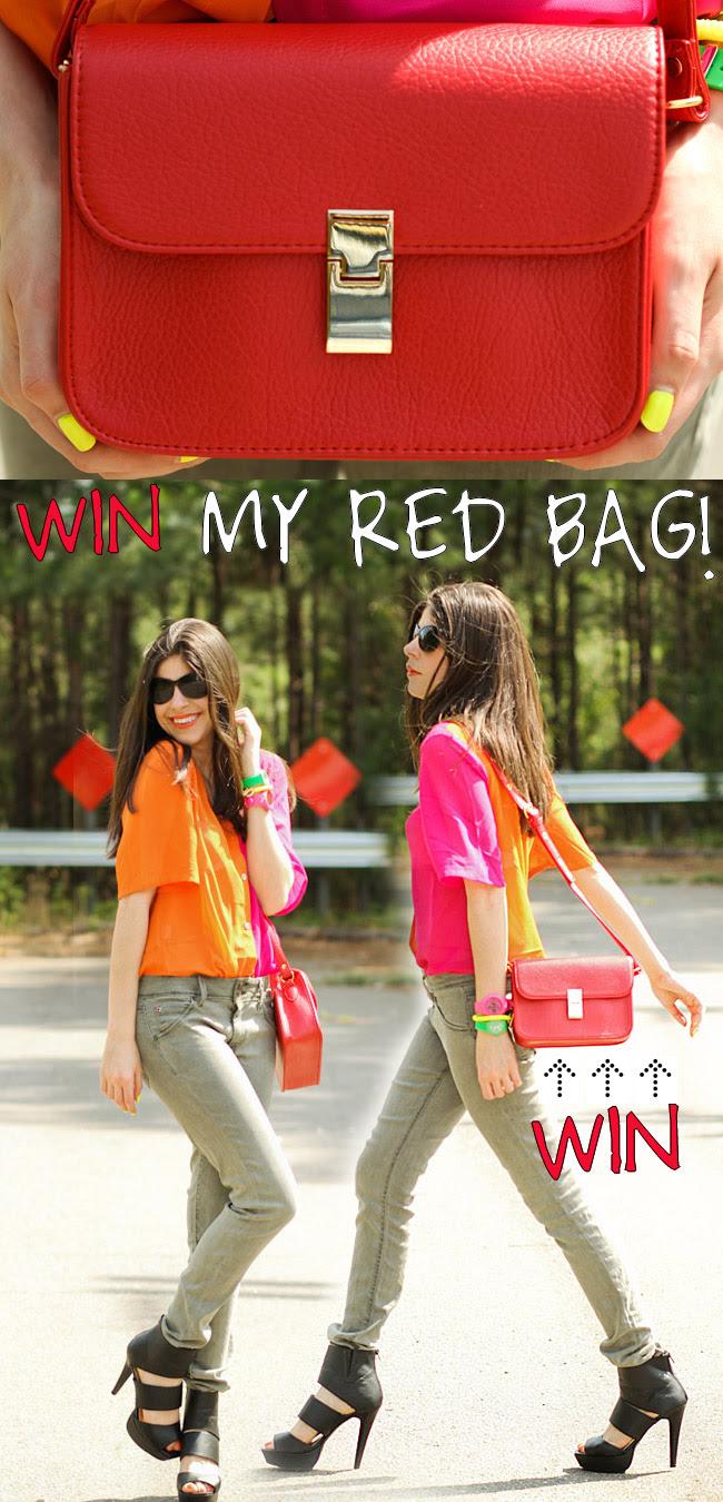 Red Kate Bag, Fashion, Celine inspired bag, Kate Moss inspired style, Shampalove