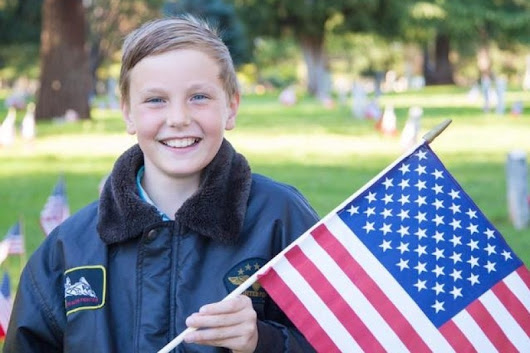 California boy places thousands of flags on veterans' headstones