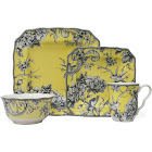 222 Fifth Adelaide Yellow 16-pc. Dinnerware Set, Service for 4