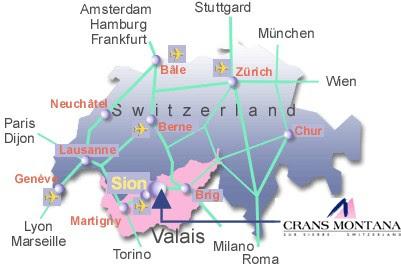 Maps Of Crans Montana Ski Resort In Switzerland Sno