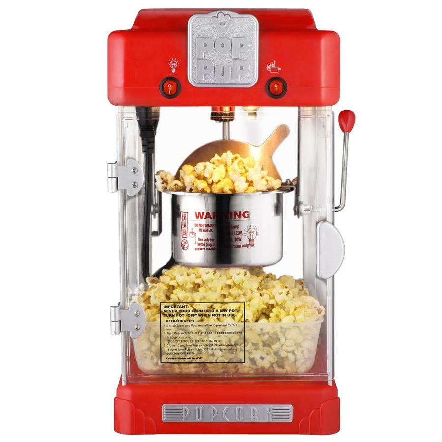Great Northern Popcorn Great Northern Popcorn 2 5 Ounce Portable Popcorn Machine Electric Countertop Popcorn Maker Red In The Popcorn Machines Department At Lowes Com