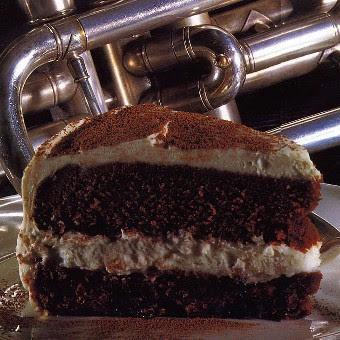 Chocolate-Raisin Mascarpone Cake