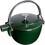 Staub Cast Iron 1-qt Round Tea Kettle - Basil