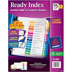 Avery Ready Index Contemporary Contents Divider, White